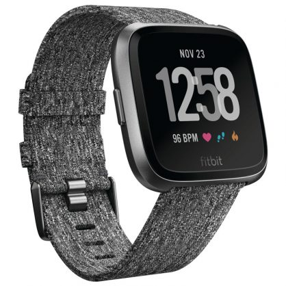 Смарт-часы FitBit Versa, Special Edition Charcoal Woven